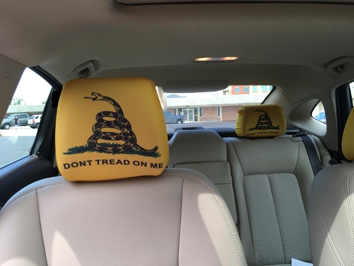Gadsden Don't Tread On Me Headrest Cover
