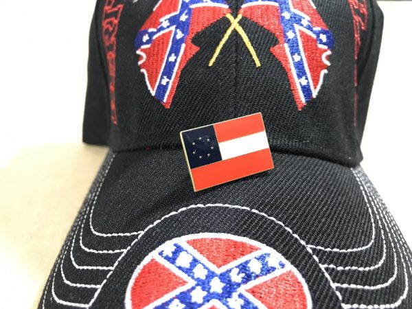 1st National Confederate Flag Pin