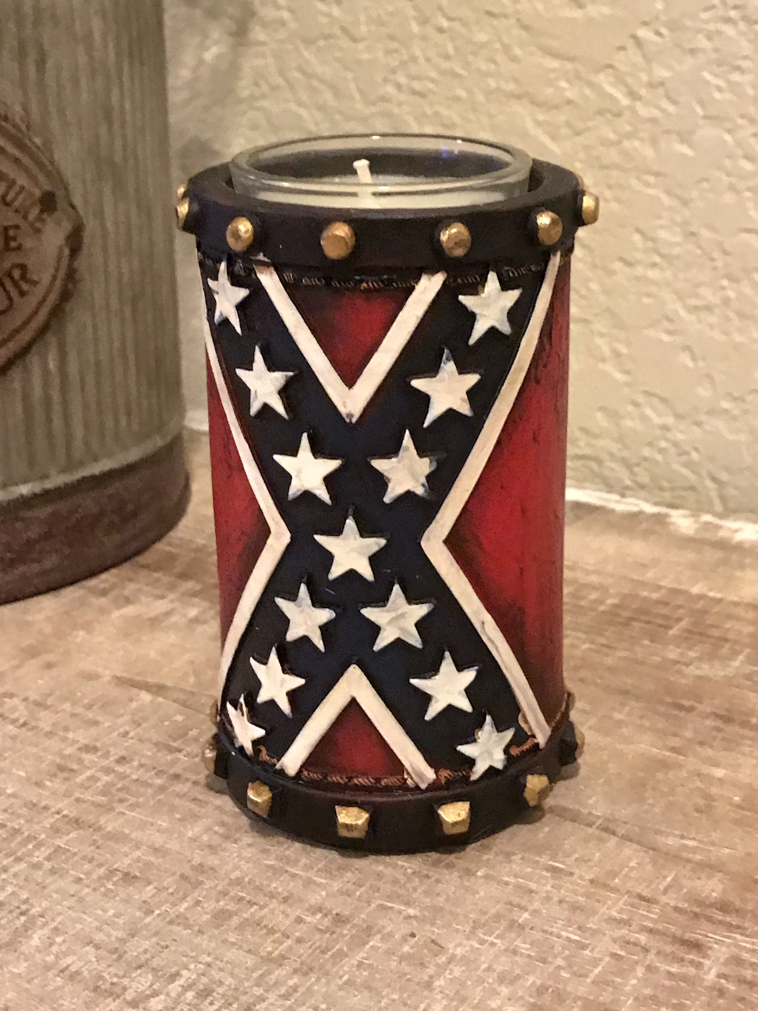 Confederate Votive Candle Holder