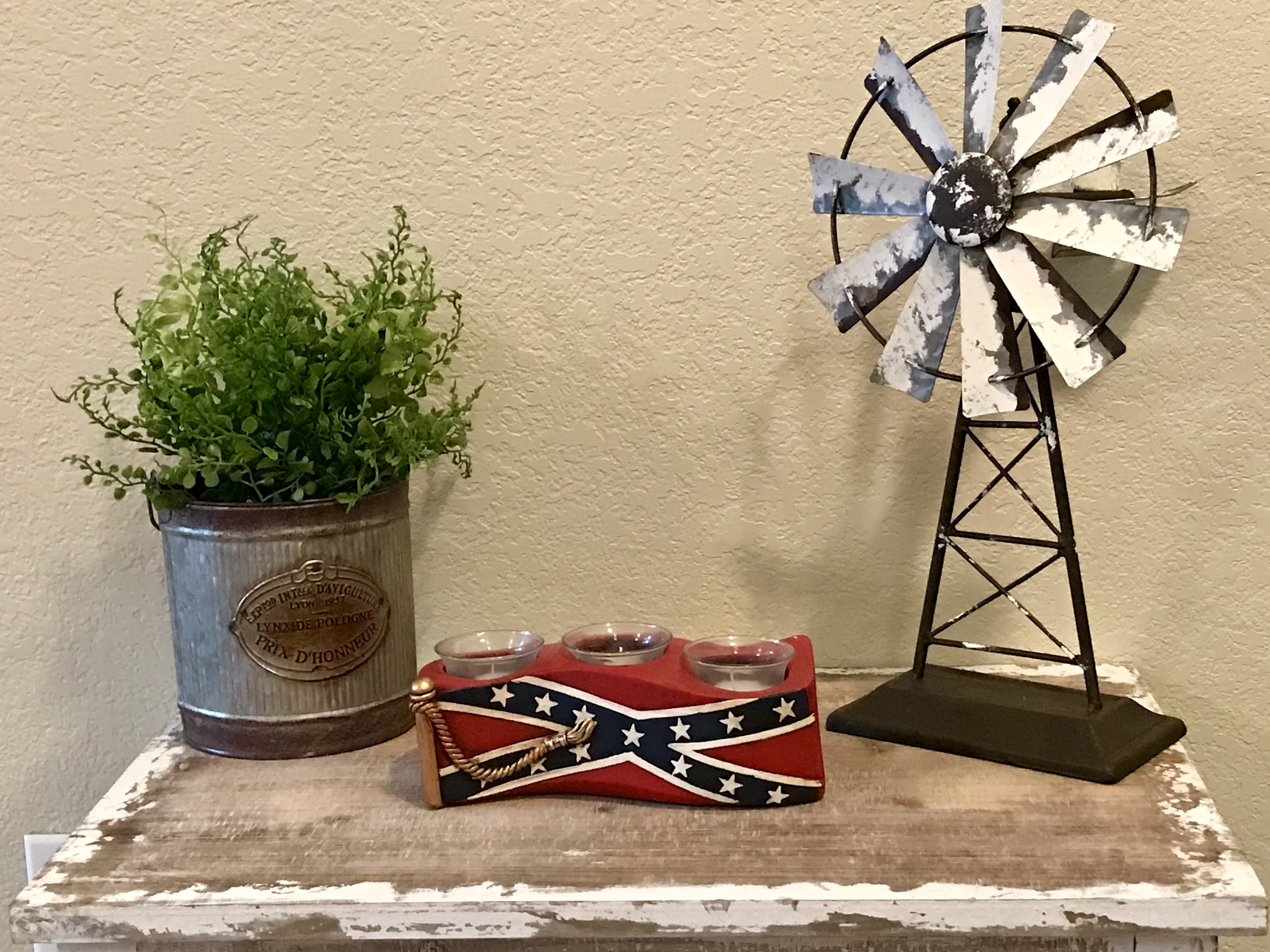 3 Piece Confederate Votive Candle Set