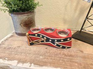 3 Piece Confederate Votive Candle Set