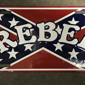 Rebel License Plate