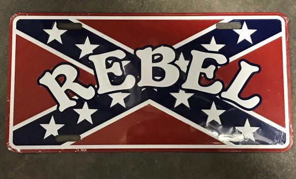 Rebel License Plate
