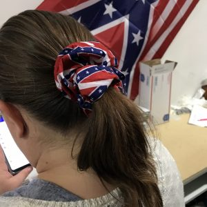 Confederate Flag Hair Scrungie