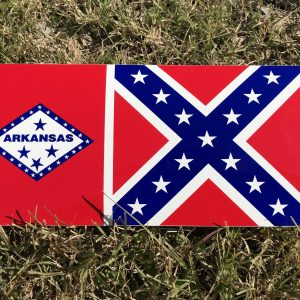 Arkansas Rebel Flag Bumper Sticker