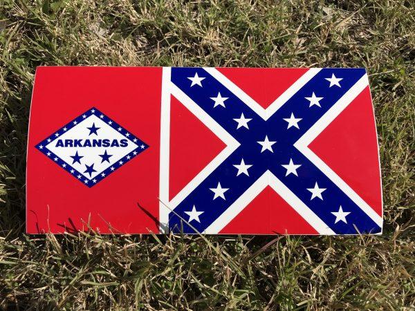 Arkansas Rebel Flag Bumper Sticker