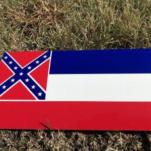 Mississippi Rebel Flag Bumper Sticker