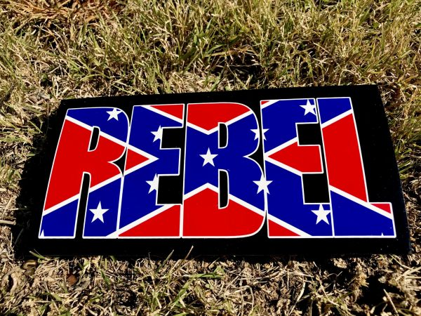 Black Rebel Flag Bumper Sticker