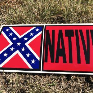 Native Rebel Flag Bumper Sticker