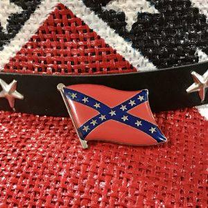 Waving Rebel Flag Pin