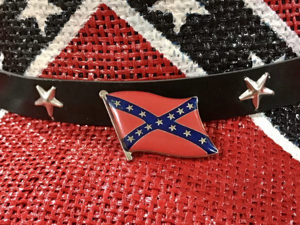 Waving Rebel Flag Pin