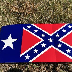 Texas Rebel Flag Bumper Sticker