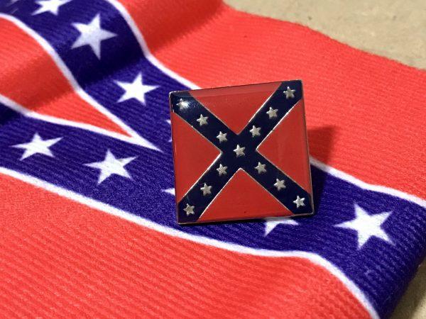 Square Confederate Battle Flag Pin