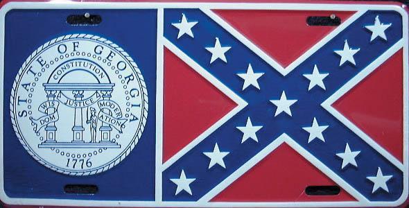 Georgia Confederate Plate
