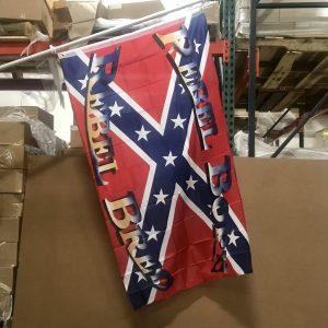 Rebel Born Rebel Bred Flag