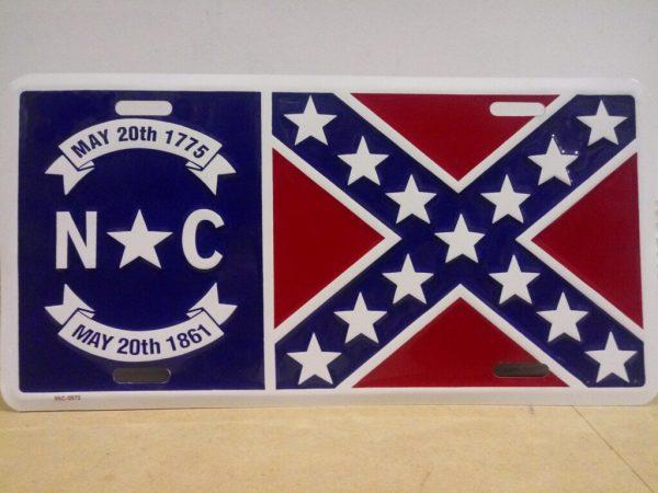 North Carolina Confederate Plate