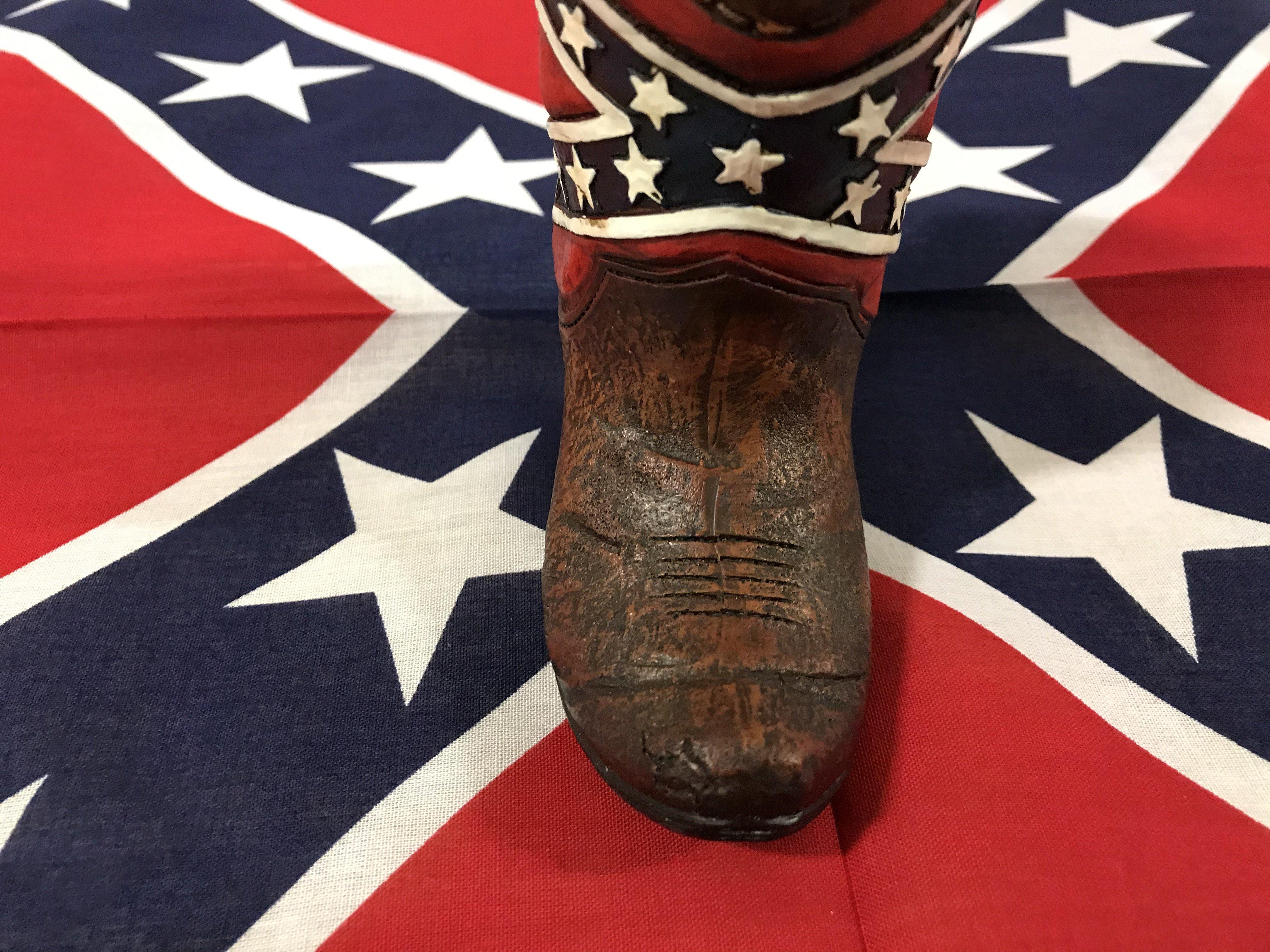 Rebel Flag Boot Pen Holder