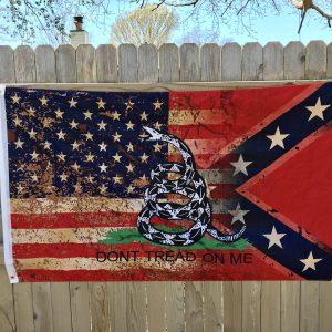 Tattered Triple Threat Rebel Flag