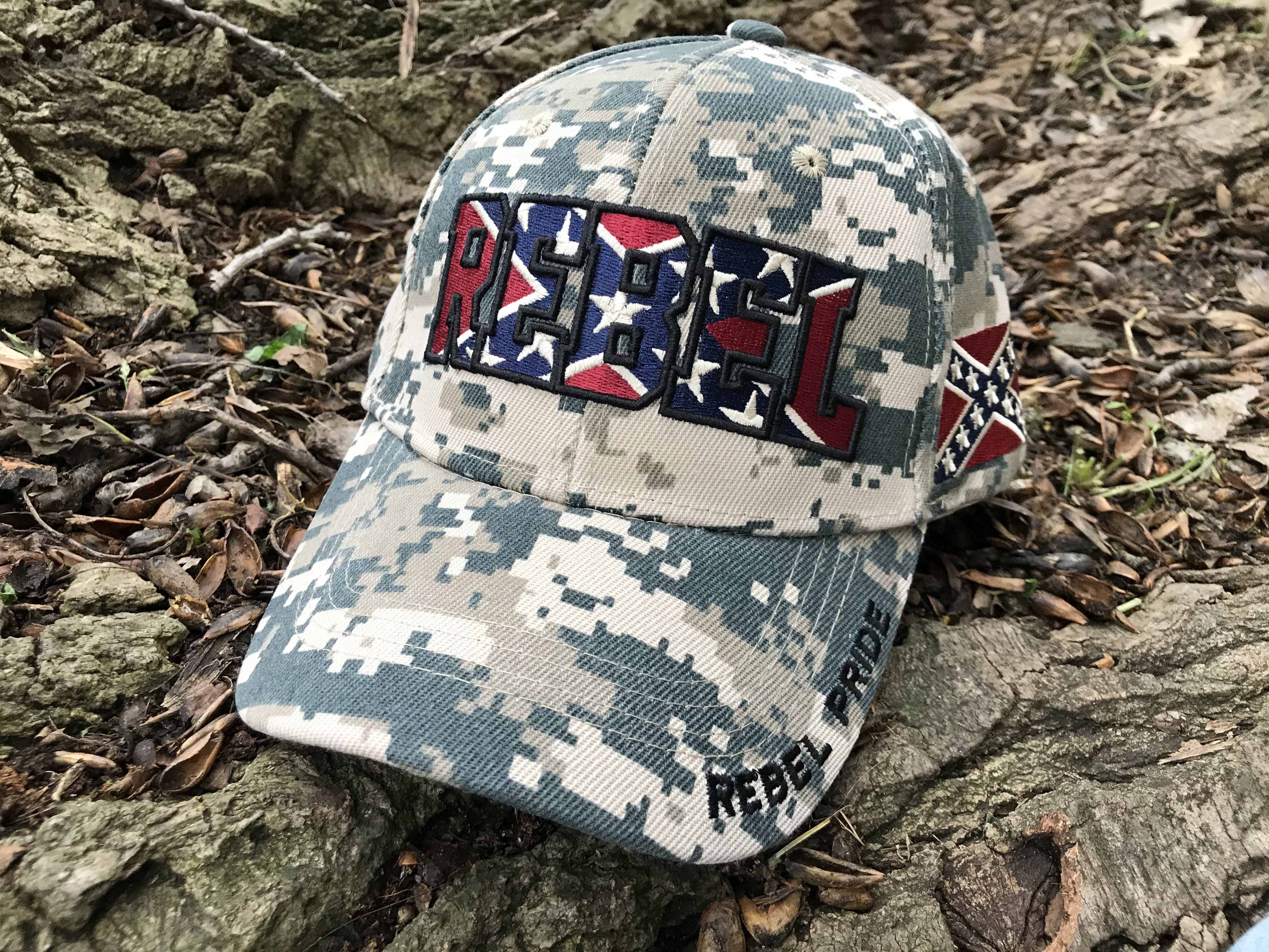 Digital Camo Rebel Flag Hat