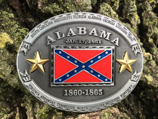 Alabama Rebel Flag Belt Buckle