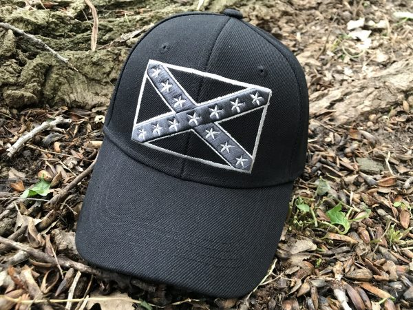 Monochrome Rebel Flag Hat