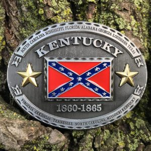 Kentucky Rebel Flag Belt Buckle