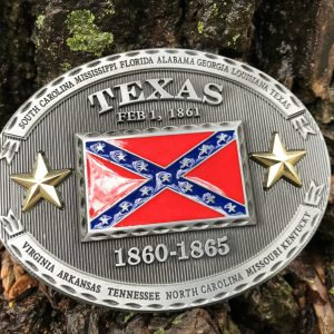 Texas Rebel Flag Belt Buckle