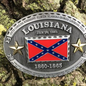 Louisiana Rebel Flag Belt Buckle