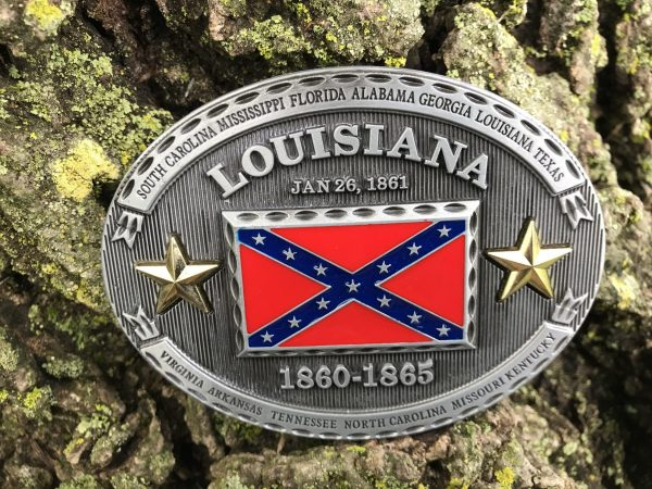 Louisiana Rebel Flag Belt Buckle