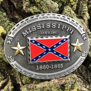 Mississippi Rebel Flag Belt Buckle