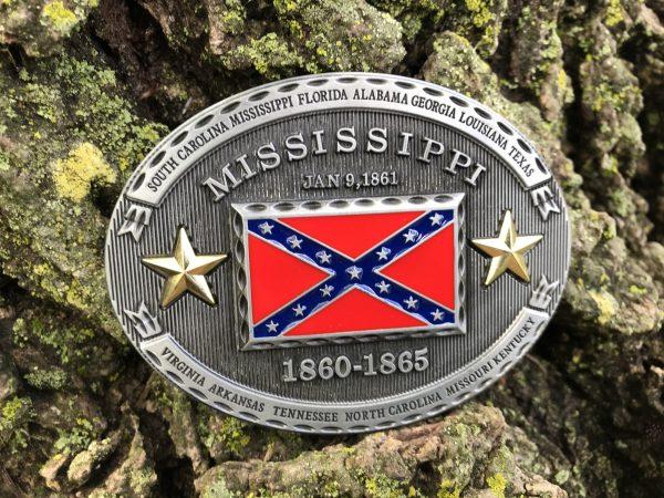 Mississippi Rebel Flag Belt Buckle