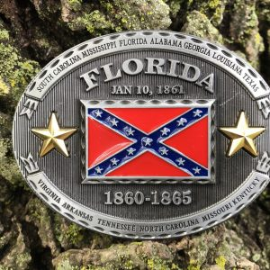 Florida Rebel Flag Belt Buckle