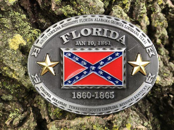 Florida Rebel Flag Belt Buckle
