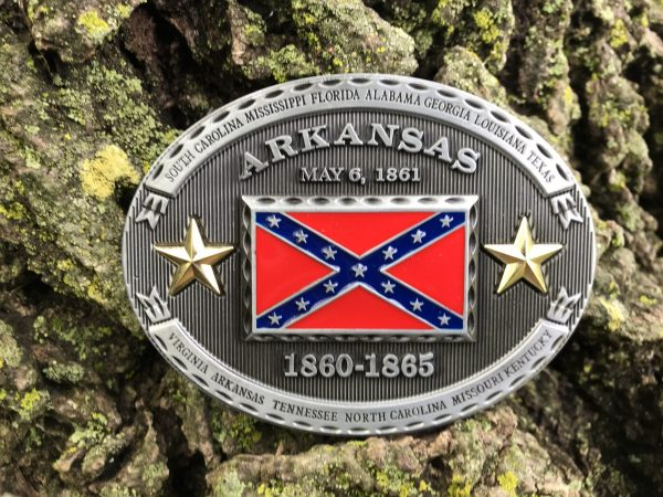 Arkansas Rebel Flag Belt Buckle