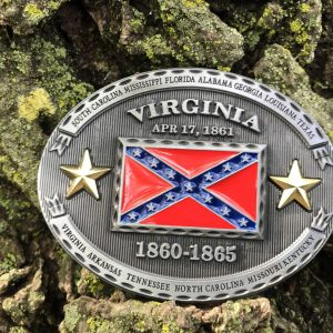 Virginia Rebel Flag Belt Buckle