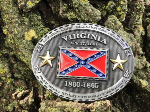 Virginia Rebel Flag Belt Buckle
