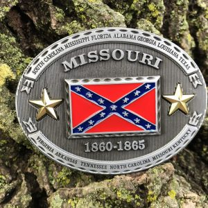 Missouri Rebel Flag Belt Buckle