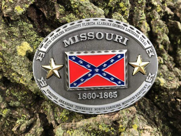 Missouri Rebel Flag Belt Buckle