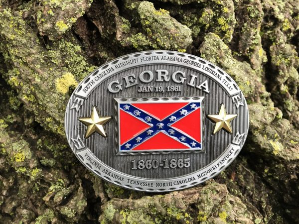 Georgia Rebel Flag Belt Buckle