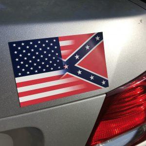 Half & Half Flag Magnet