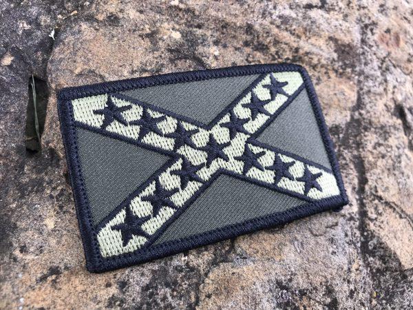 Camo Rebel Flag Patch