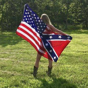 Half and Half Confederate Flag