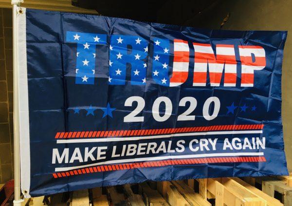 Trump 2020 Make Liberals Cry Again Flag
