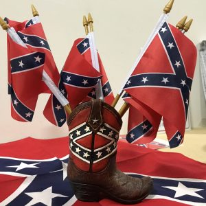 "Confederate Stick Battle Flag 4""x 6"""