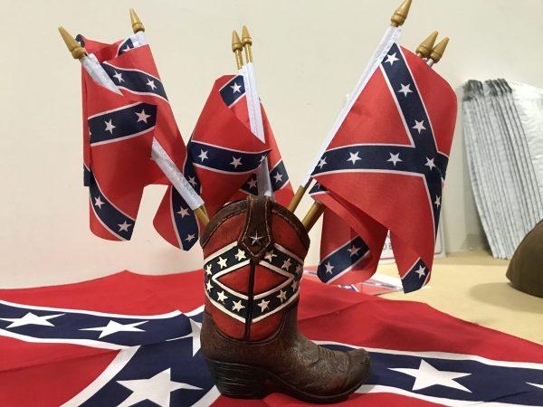 """Confederate Stick Battle Flag 4""""x 6"""""""