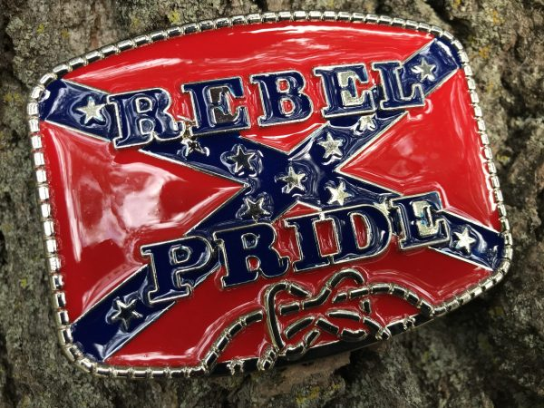 Red Rebel Pride Flag Belt Buckle