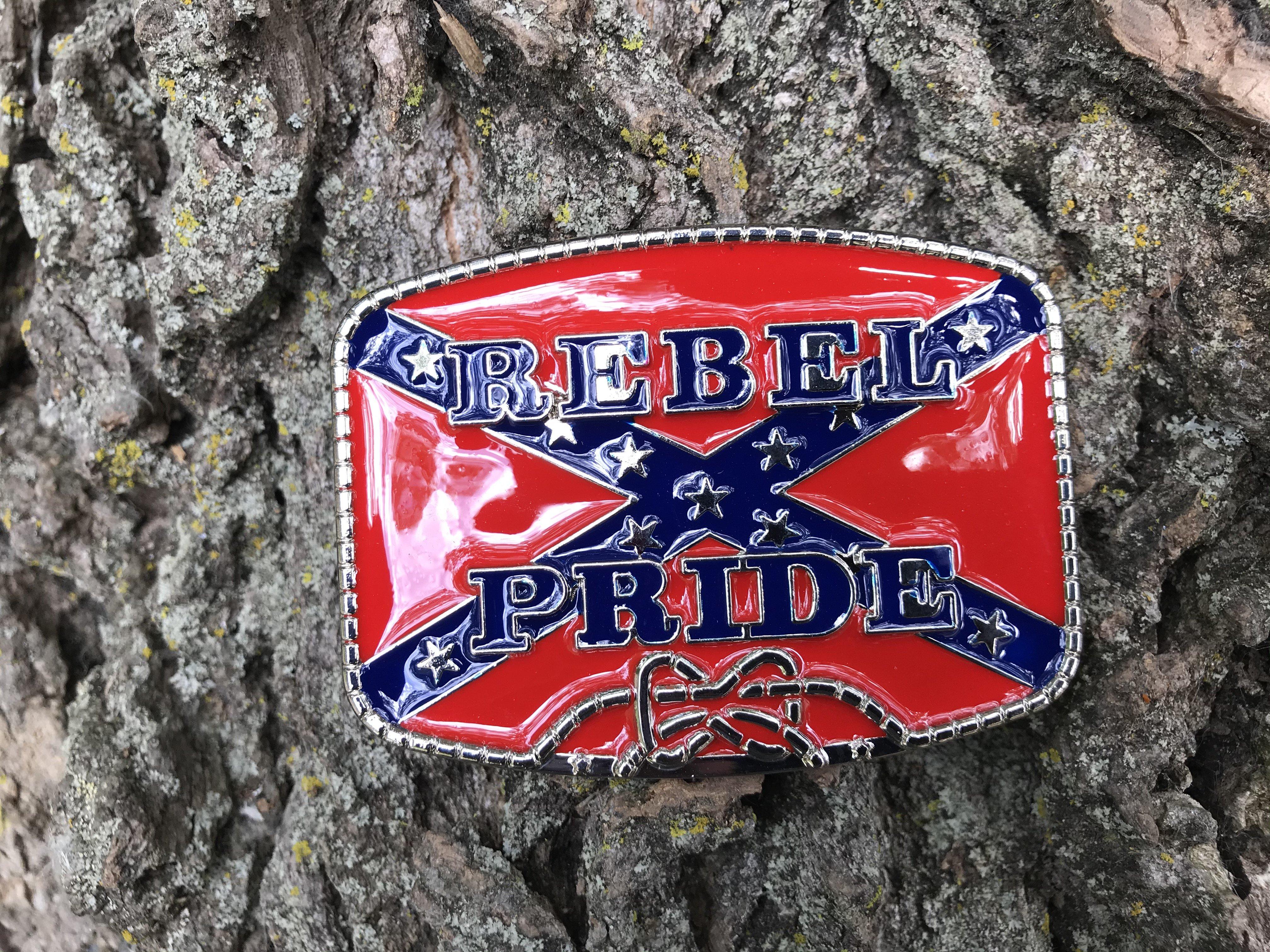 Red Rebel Pride Flag Belt Buckle
