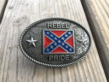 Confederate Flag Belt Buckles