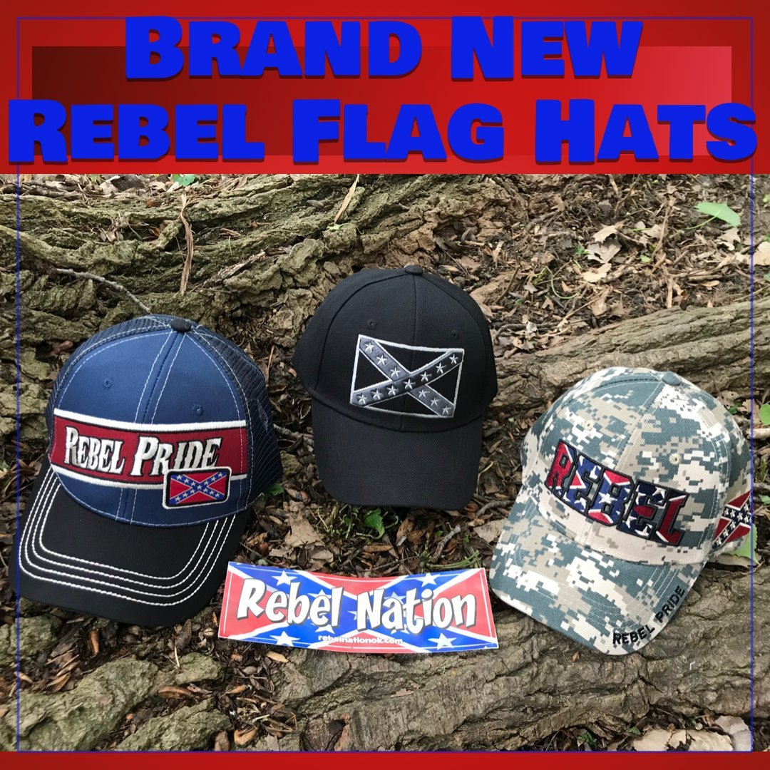 Rebel Flag Caps and Hats