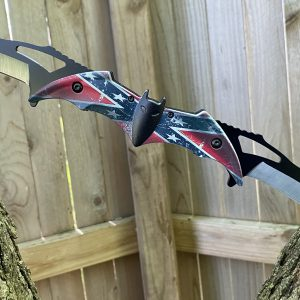 Rebel Flag Bat Knife